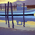 Shark River Lobster Boat Print by Donald Maier