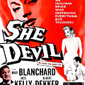 She Devil, Blonde Woman Featured Print by Everett