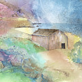 Shed By A Lake In Ireland Print by Arline Wagner