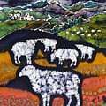 Sheep at Midnight Poster by Carol  Law Conklin