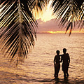 Silhouetted Couple Poster by Larry Dale Gordon - Printscapes
