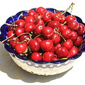 Simply a Bowl of Cherries Print by Carol Groenen