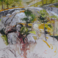 Sketch for Ogwen painting Print by Harry Robertson