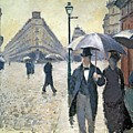 Sketch for Paris a Rainy Day Print by Gustave Caillebotte