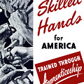 Skilled Hands For America Print by War Is Hell Store
