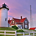 Sky of Passion - Nobska Lighthouse Print by Thomas Schoeller