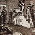 Slave Auction In Virginia Print by Photo Researchers