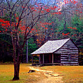 Smoky Mtn. Cabin Print by Paul W Faust -  Impressions of Light