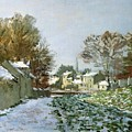 Snow at Argenteuil Poster by Claude Monet