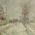Snow Effect Poster by Claude Monet
