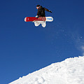 Snowboarder in Serre Chevalier France Poster by Pierre Leclerc Photography