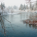 Snowy Day on the River Poster by Reflective Moment Photography And Digital Art Images