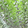 Soft Green and Gray Abstract Print by Carol Groenen