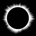 Solar Eclipse With Corona Poster by Don Farrall