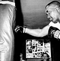 Sonny Liston Working Out On The Heavy Print by Everett