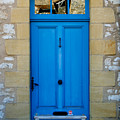 South of France rustic blue door  Poster by Nomad Art And  Design