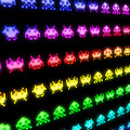 Space Invaders Print by Michael Tompsett