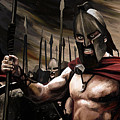 Spartans 300 Poster by James Shepherd
