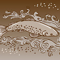 speckled trout fish Print by Aloysius Patrimonio