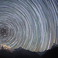 Spinning Stars Above Himalayas Poster by Anton Jankovoy
