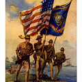 Spirit Of 1917 - Join The US Marines  Print by War Is Hell Store