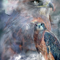 Spirit Of The Hawk Print by Carol Cavalaris