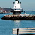 Spring Point Ledge Lighthouse Poster by Greg Fortier
