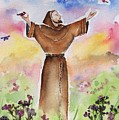 St Francis of Assisi Poster by Regina Ammerman