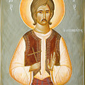 St George the New Martyr of Chios Poster by Julia Bridget Hayes