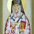 St Nektarios of Aigina II Print by Julia Bridget Hayes