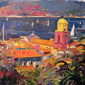 St Tropez Sailing Print by Peter Graham