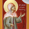 St Xenia of St Petersburg Print by Julia Bridget Hayes