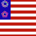 Stars and Stripes of RetroCollage Print by Eric Edelman