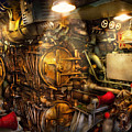 Steampunk - Naval - The torpedo room Poster by Mike Savad