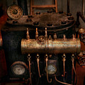 Steampunk - Plumbing - The valve matrix Print by Mike Savad