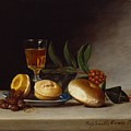 Still Life with a Wine Glass Print by Raphaelle Peale