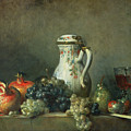 Still Life with Grapes and Pomegranates Print by Jean-Baptiste Simeon Chardin