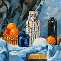 Still Life with Jugs and Oranges Print by Ethel Vrana