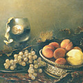 Still-life with peaches Print by Tigran Ghulyan