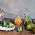 Still Life with Pitcher and Fruit Print by Paul Cezanne