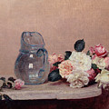 Still Life with Roses Poster by Ignace Henri Jean Fantin-Latour
