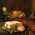 Still-life with the violin Poster by Tigran Ghulyan
