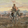 Stolen Horses Print by Charles Marion Russell