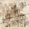 stroked s.patrick cathedral Print by Andrea Barbieri