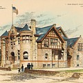 Sub Police Station. Chestnut Hill PA. 1892 Poster by John Windrim