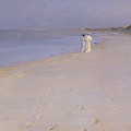 Summer evening at the South Beach Poster by Peder Severin Kroyer