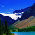 Summer Glacier Over Mountain Lake Poster by Greg Hammond