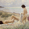Summer on the Beach Print by Paul Fischer