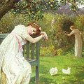 Sunday Afternoon - Ladies in a Garden Print by English School