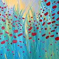 Sunlit Poppies Print by Stacey Zimmerman